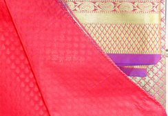 Banaras Art Silk Saree, stitched petticoat with fall and unstitched blouse for party wear