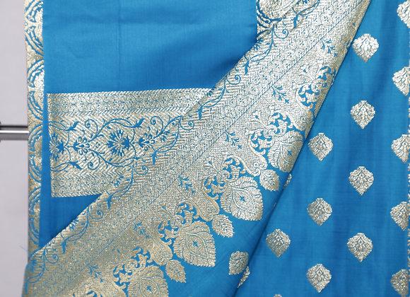 Blue Banarsi Saree
