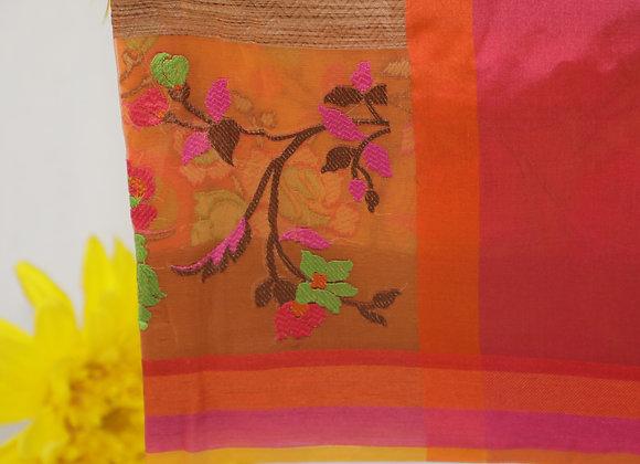 Printed Mix Colour Saree