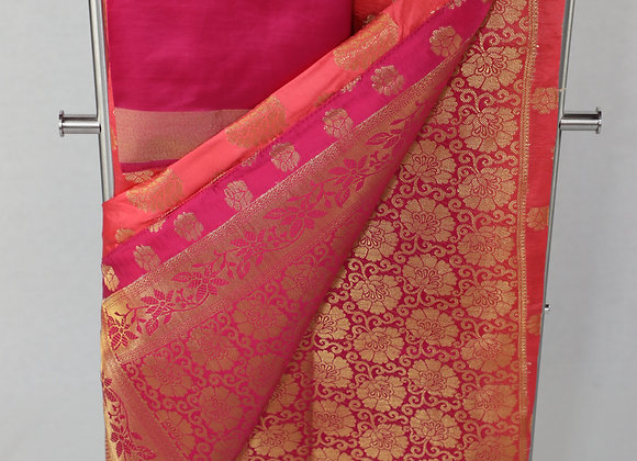 Banarsi Saree in Pink Color
