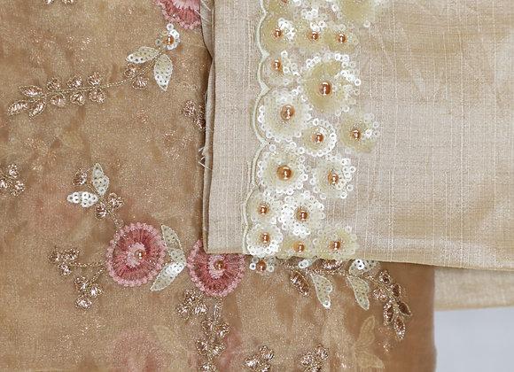 Golden Color Banarsi Saree