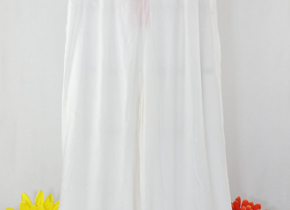Designer White Plazo