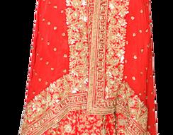Stunning Dabka Hand Made Bridal Silk Lehenga with georgette Choli