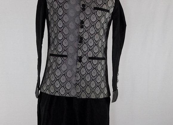 Emerald Black Sherwani with Threadwork