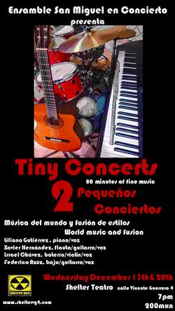 poster tiny concerts negro y rojo