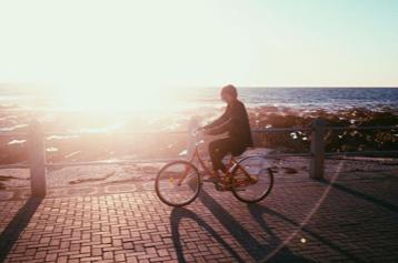 dr melissa crestani riding a bike