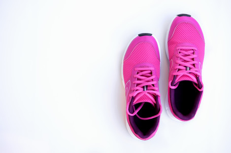 Concept run. Pink running shoes for wome