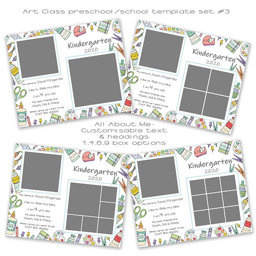Art Class- All About Me set of 4
