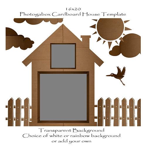 Photogabox Cardboard Box Template | 2 box | Double Story