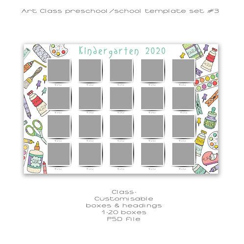 Art Class- 1-20 box class template