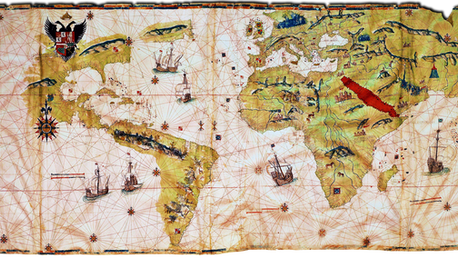 Known world map