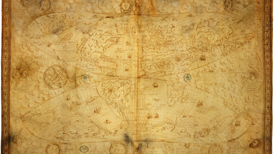 Mapamundi de Le Testu