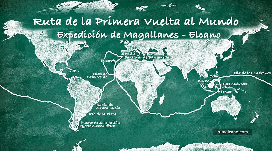 primera vuelta al mundo, expedición magallanes elcano, magallanes, elcano, circunnavegación, ruta primera vuelta al mundo, mapa