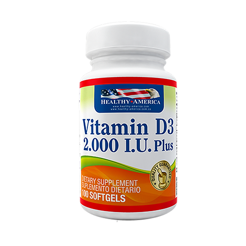 Vitamina D3 2000 IU x 100 Cap