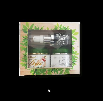 Kit Facial Crema Dia, Noche y Suero Ojos