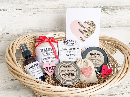 Make Your Own Gift Basket - With Barn Door Blooms Bouquet