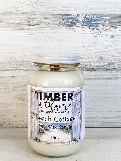 Beach Cottage - Handcrafted Candle