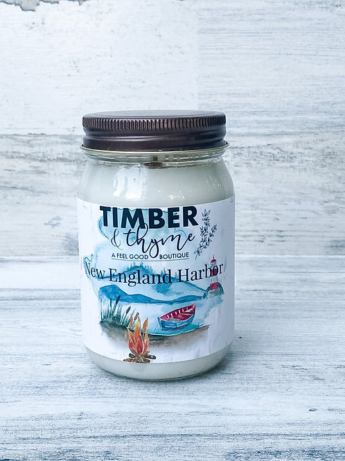 New England Harbor - Handcrafted Candle
