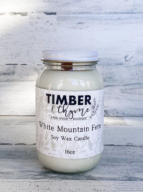 White Mountain Fern - Handcrafted Candle