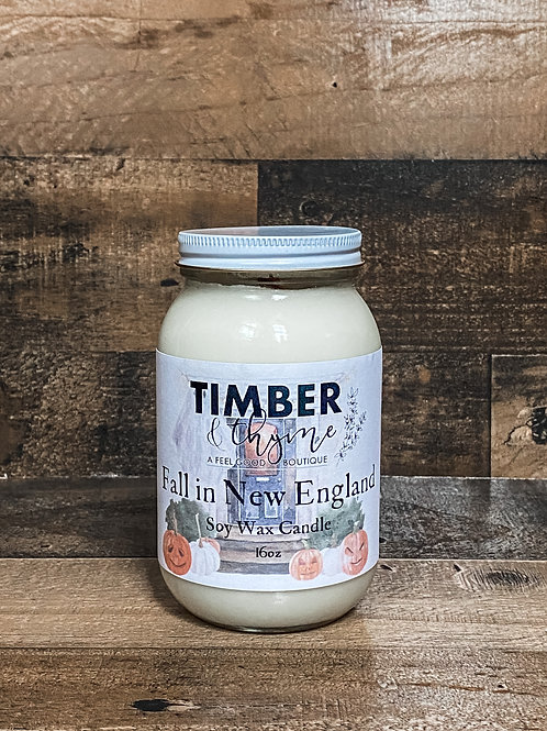 Fall in New England - Soy Wax Candle