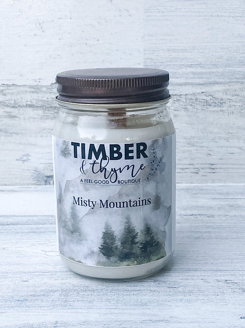 Misty Mountains -Handcrafted Candle