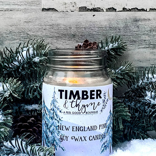 New England Pine - 100% Soy Wax Candle