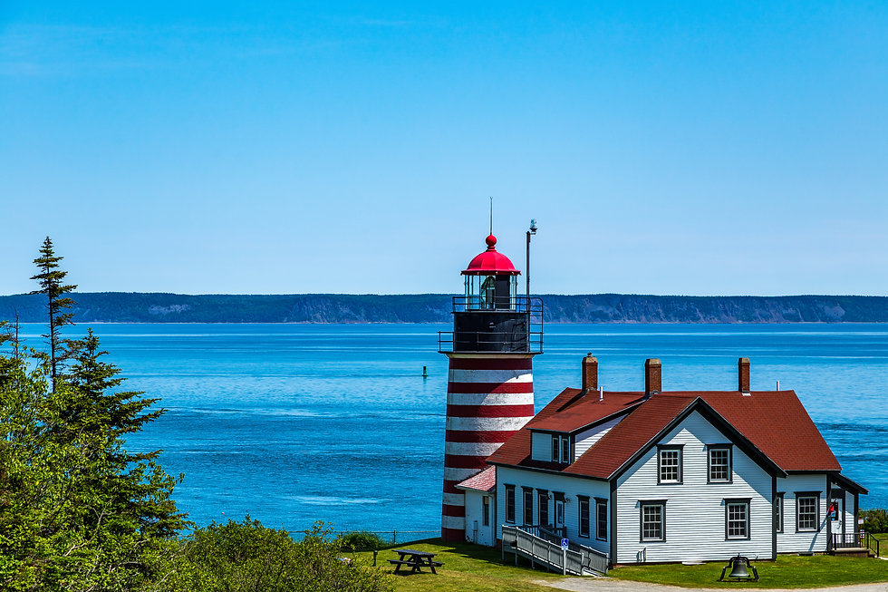 West Quoddy Head, Lubec, Maine, is the e
