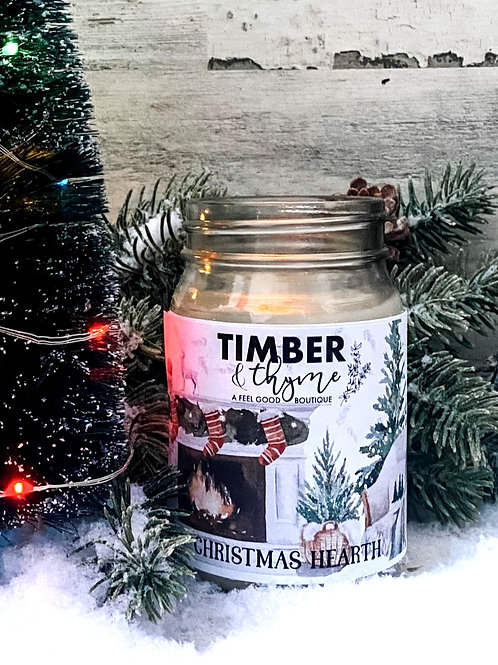Christmas Hearth - 100% Soy Wax Candle