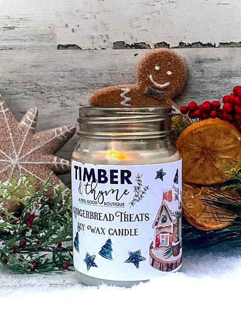 Gingerbread Treats - 100% Soy Wax Candle
