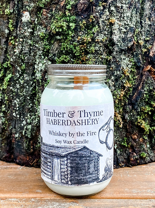 Whiskey by the Fire Soy Wax Candle