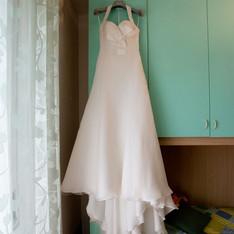 abito sposa in seta atelier Pastore