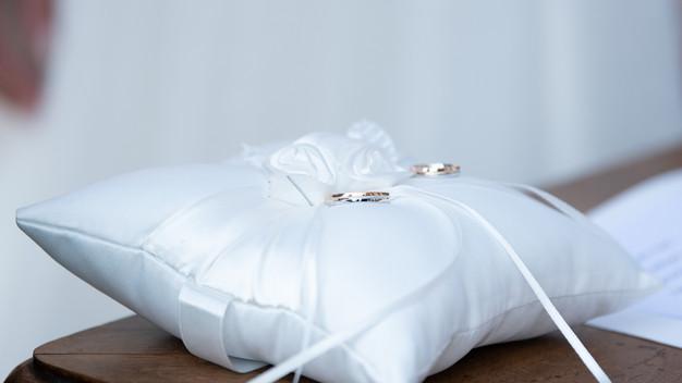 cuscino porta fedi