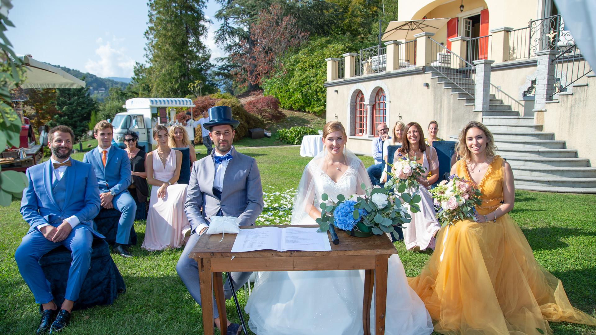 Villa Confalonieri: cerimonia in giardino