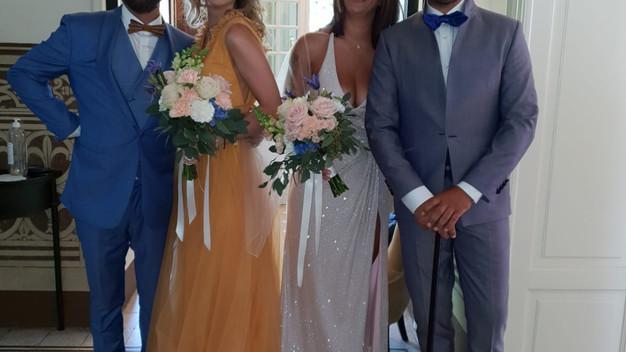 sposo e testimoni ante cerimonia