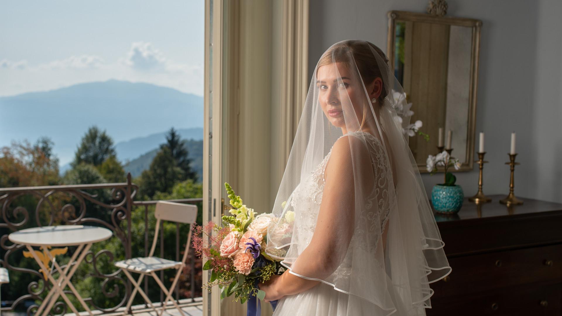 preparativi sposa in Villa Confalonieri terminati
