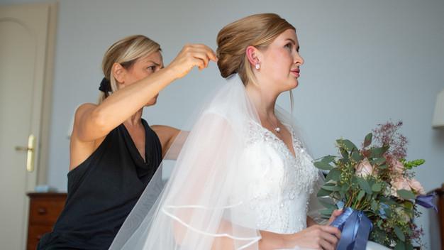 preparativi sposa in Villa Confalonieri