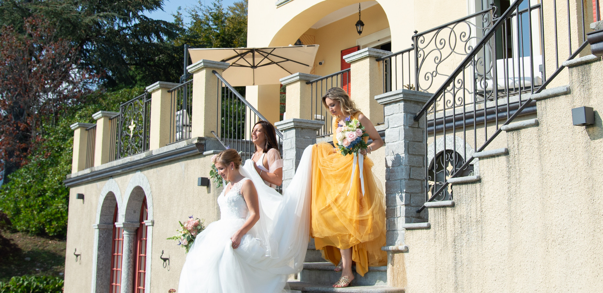Villa Confalonieri: arrivo sposa alla cerimonia