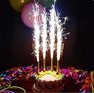 torta con fontanelle luminose