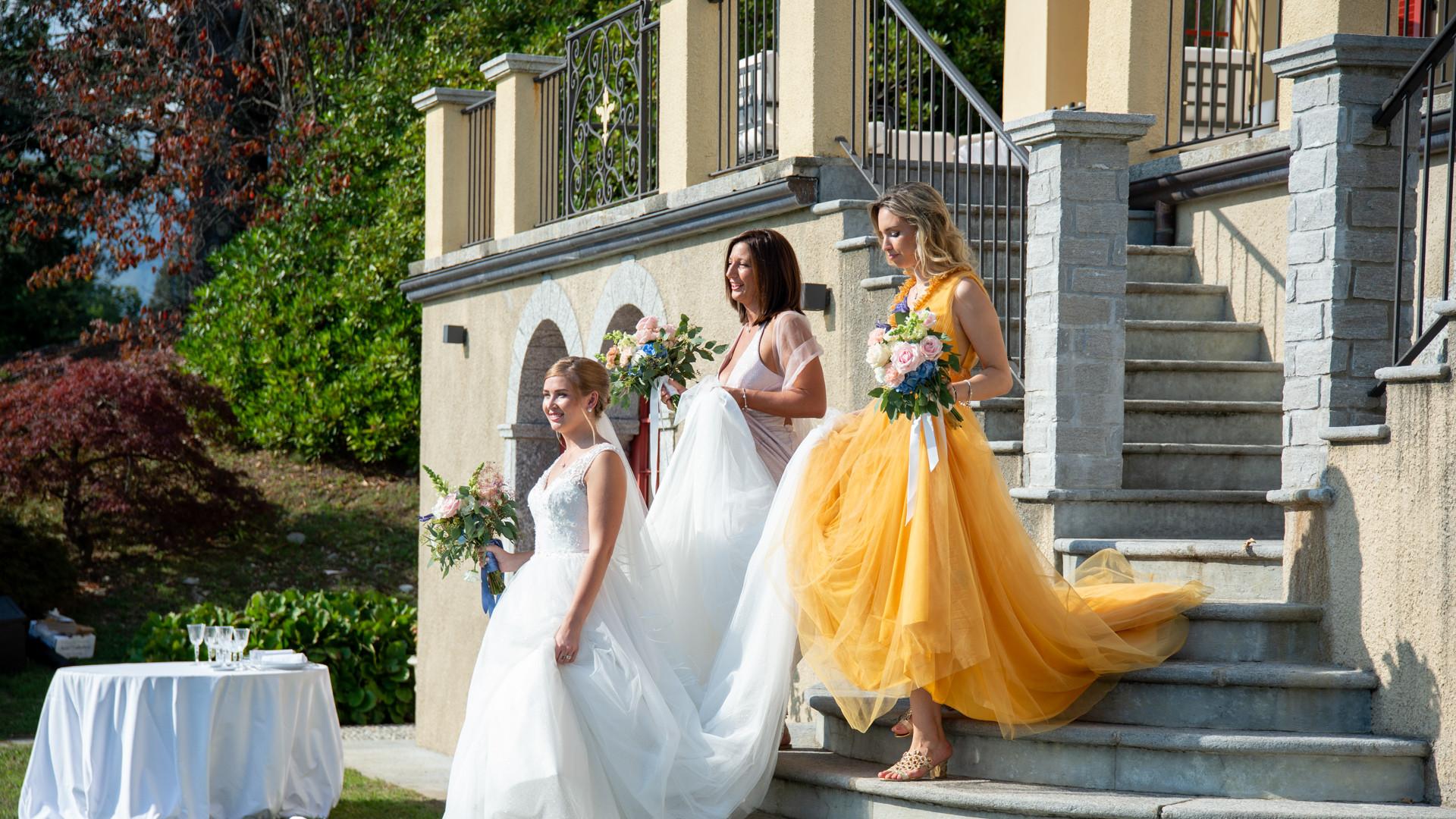 Villa Confalonieri:cerimonia in giardino