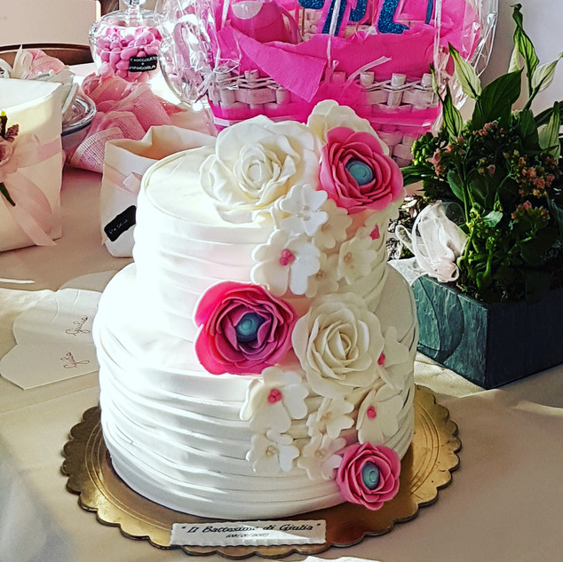 torta battesimo baby girl