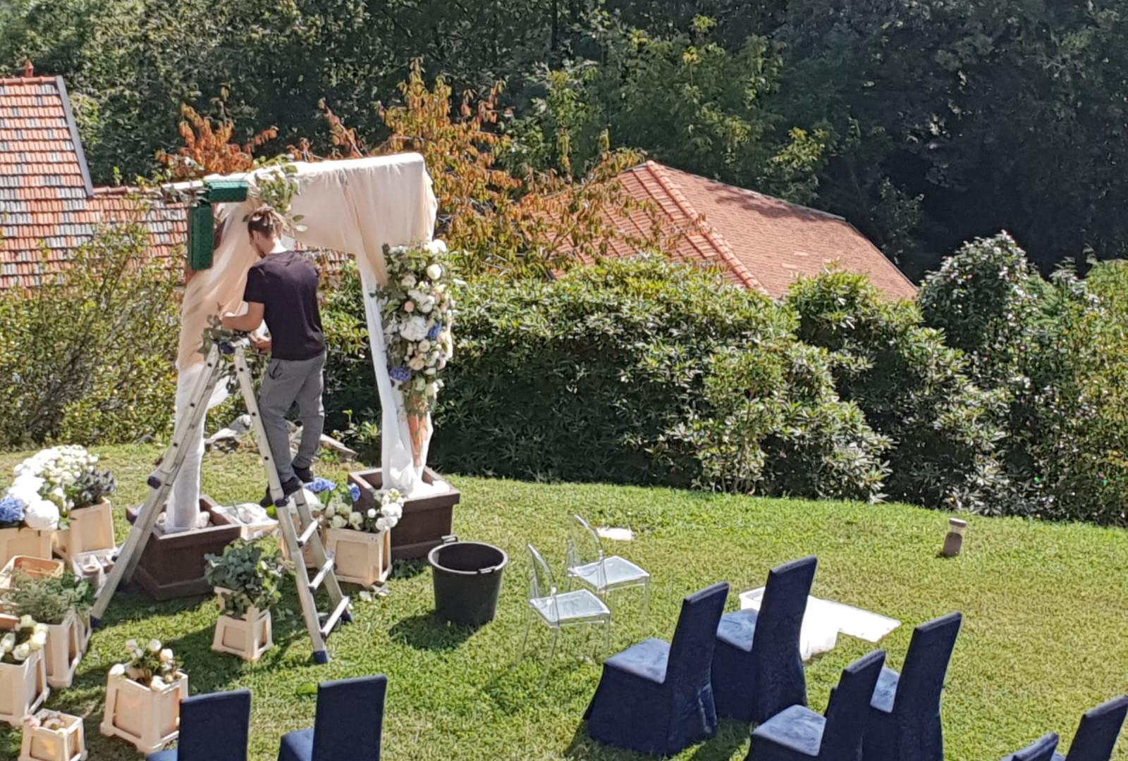 allestimento arco cerimonia