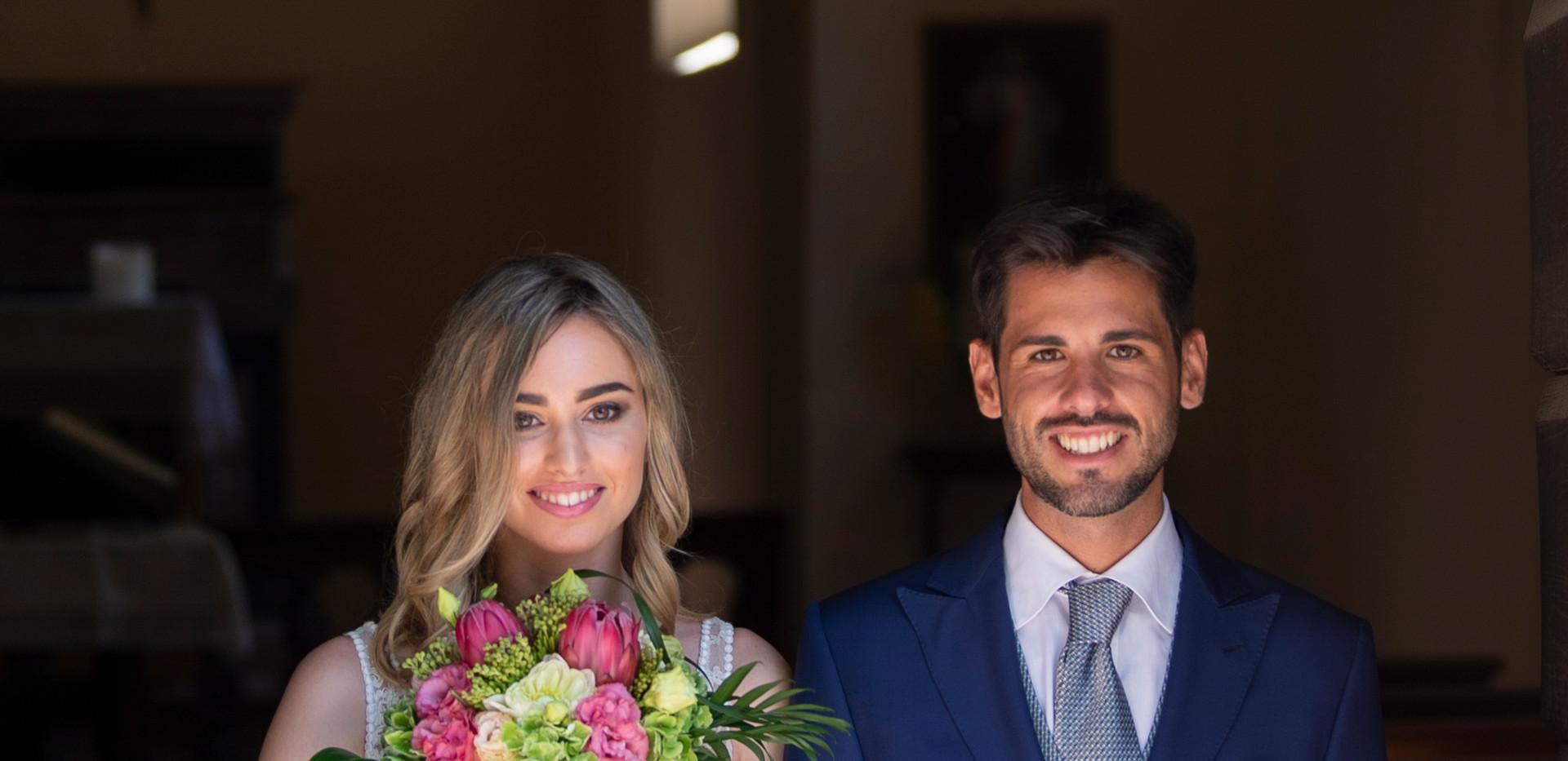 uscita dalla chiesa dei neo sposi