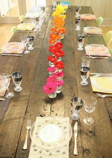 centro tavola colorato ideale per feste estive