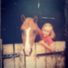I love this photo of me as a child and my beautiful pony called Tangerine Dream!