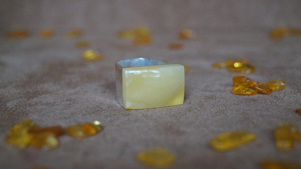 Adjustable Butterscotch AmberModa Ring A316