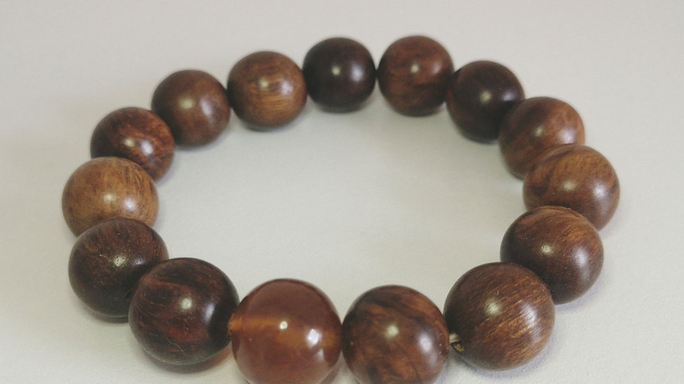 Amber and Rosewood  bangle A158