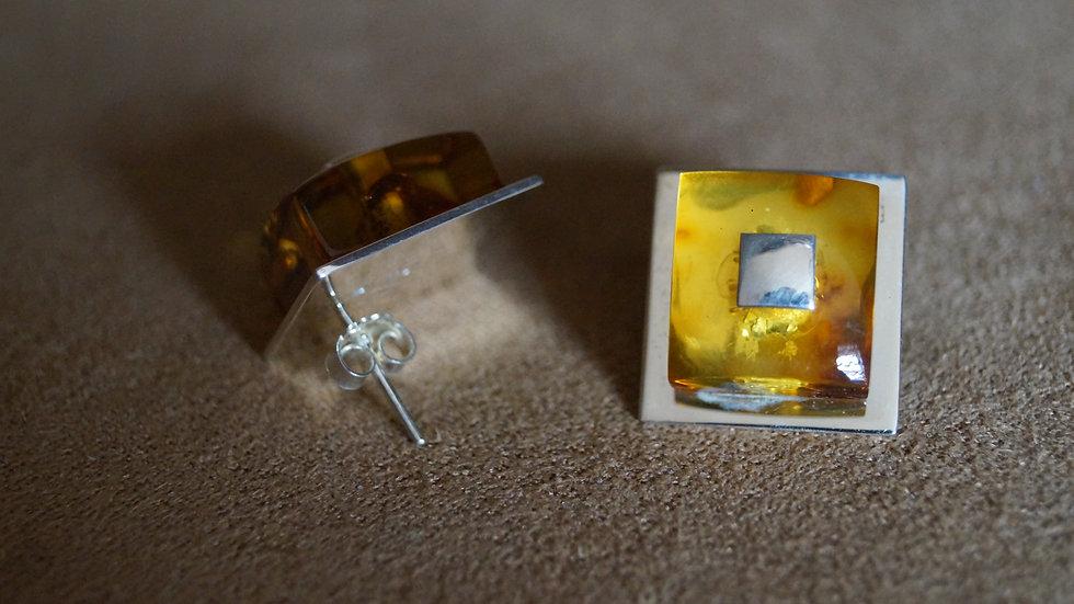 AmberModa Square Stud Earrings A295