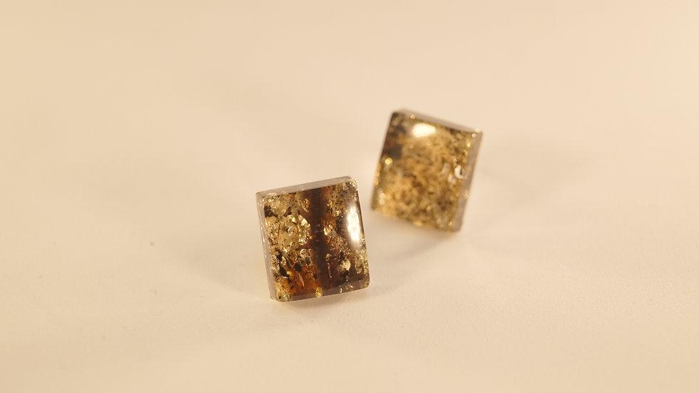 Ambermoda Dark Square Earrings A218