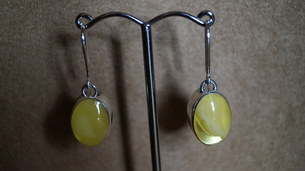 AmberModa Oval Drop Earrings A290