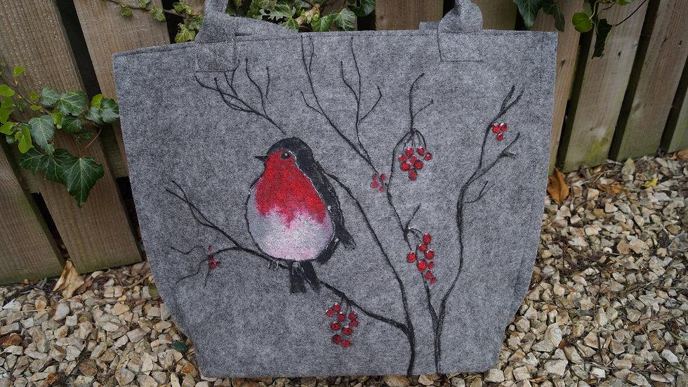 Medium Felt Robbin Bag (zipped) A253